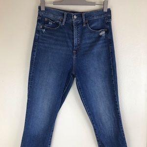 Gap High Rise True Skinny 8/29 Jeans